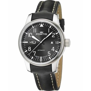 FORTIS F-43 Flieger Automatic Limited Edition Black Leather Stra