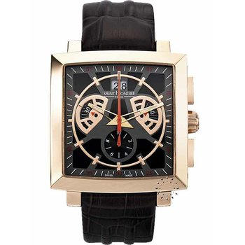 Saint HONORE Orsay Magnum Disc Chronograph Brown Leather Strap