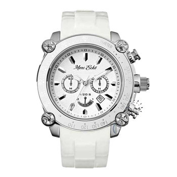 MARC ECKO Men's Chronograph White Rubber Strap