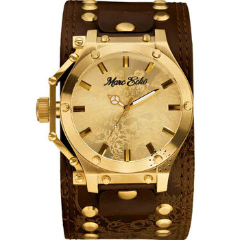 MARC ECKO The Logan Brown Leather Strap