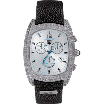 MARC ECKO Ladies Chrono Black Rubber Strap