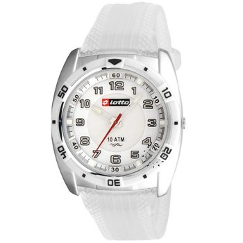 LOTTO Sport White Rubber Strap