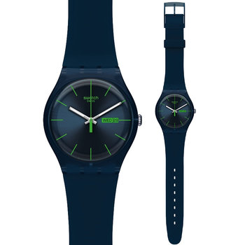 SWATCH Blue Rebel Blue Rubber