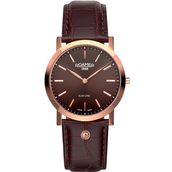 Roamer Slim Line  Rose Gold