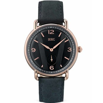 REC Cooper Black Leather Strap