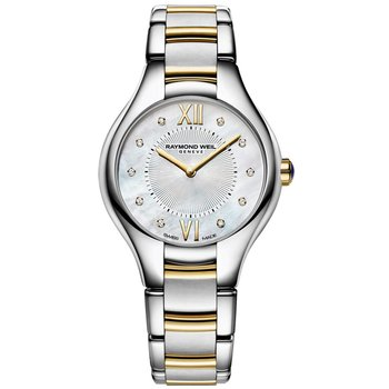 RAYMOND WEIL Noemia Diamonds Pearl Dial Two Tone Stainless Steel Bracelet