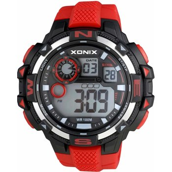 XONIX Digital Red Rubber Strap