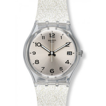 SWATCH New Core Silverblush White Rubber Strap