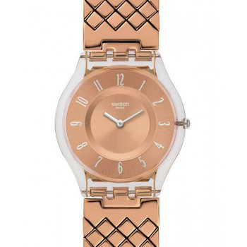 SWATCH Skin Pink Cushion Small Stainless Steel Bracelet