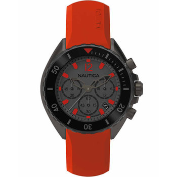 NAUTICA NWP Chrono Red Rubber