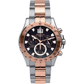 MICHEL HERBELIN Newport Trophy Chronograph Two Tone Stainless Steel Bracelet