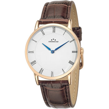 CHRONOSTAR Mens Brown Leather