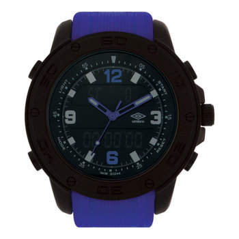 UMBRO Sport Dual Time Chronograph Blue Rubber Strap