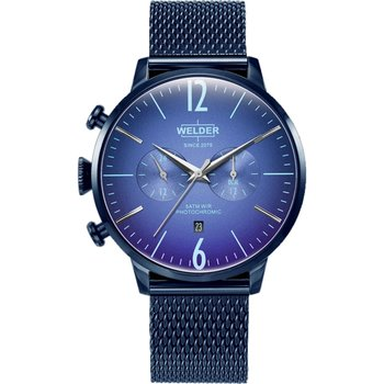 WELDER Moody Dual Time Blue Metallic Bracelet