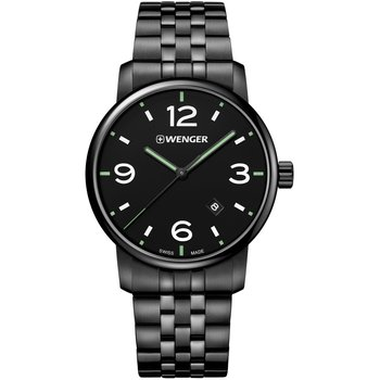 WENGER Urban Black Stainless Steel Bracelet
