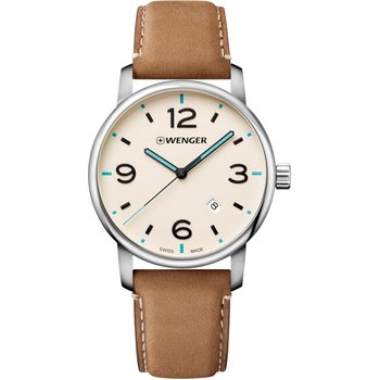 WENGER Urban Brown Leather Strap