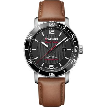 WENGER Roadster Brown Leather Strap