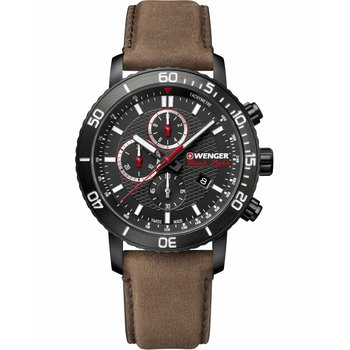 WENGER Roadster Chronograph Brown Leather Strap