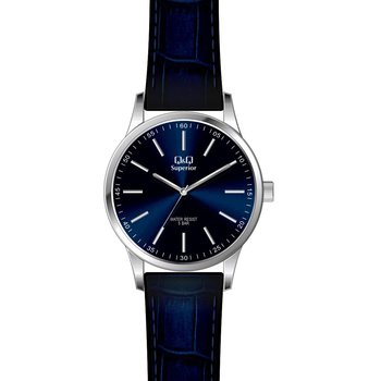 Q&Q Fashion Blue Leather Strap