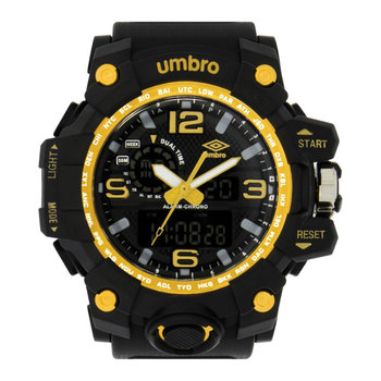 UMBRO Sport Dual Time Chronograph Black Rubber Strap