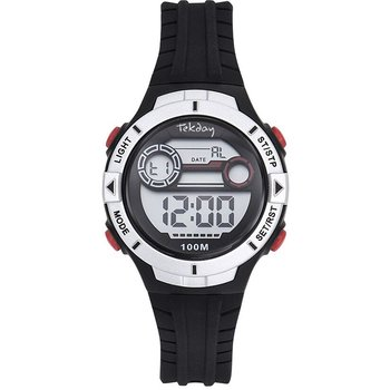 TEKDAY Mens Chronograph Black