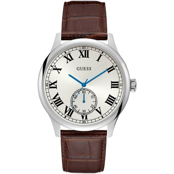 GUESS Mens Brown Leather Strap