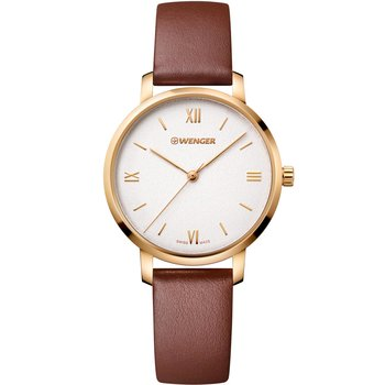 WENGER Metropolitan Donnissima Brown Leather Strap