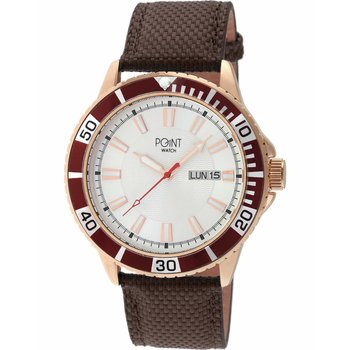 POINT WATCH Poseidon Brown Leather Strap