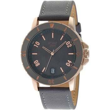 POINT WATCH Mars Grey Leather