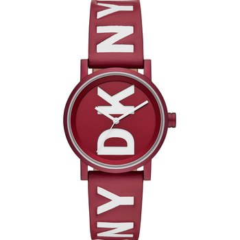 DKNY Soho Red Leather Strap