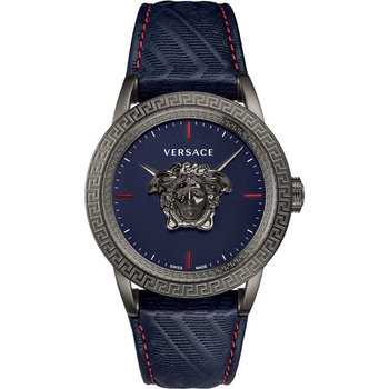 VERSACE Blue Leather Strap