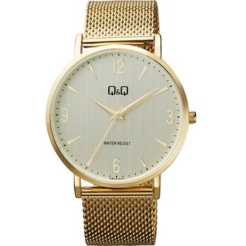 Q&Q Mens Gold Metallic