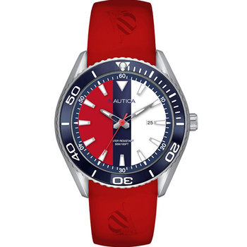 NAUTICA Mens Red Silicone