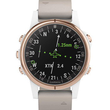 GARMIN D2 Delta S Aviator Watch with Beige Leather Strap