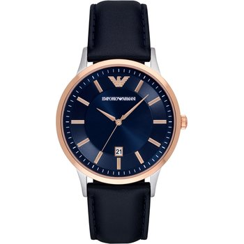 Emporio ARMANI Blue Leather