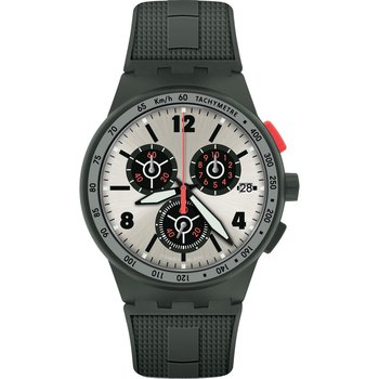 SWATCH Verdone Chronograph Grey Silicone Strap