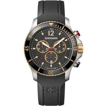 WENGER Seaforce Chronograph Black Silicone Strap