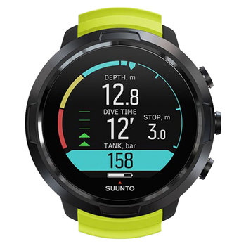 SUUNTO D5 with Lime Silicone