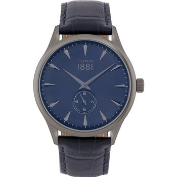 CERRUTI Clusone Blue Leather Strap