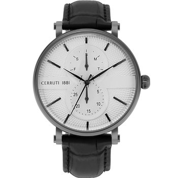 CERRUTI Scorrano Black Leather Strap