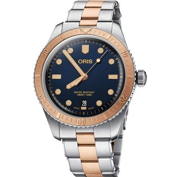 ORIS Divers Sixty-Five Automatic Two Tone Stainless Steel Bracelet
