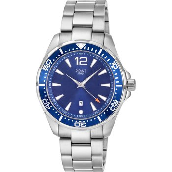 POINT WATCH Poseidon Silver Stainless Steel Bracelet