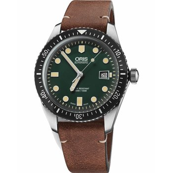 ORIS Divers Sixty-Five Automatic Brown Leather Strap