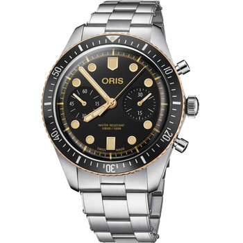 ORIS Divers Sixty-Five Automatic Chronograph Silver Stainless Steel Bracelet