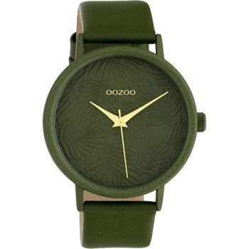 OOZOO Timepieces Limited Green Leather Strap