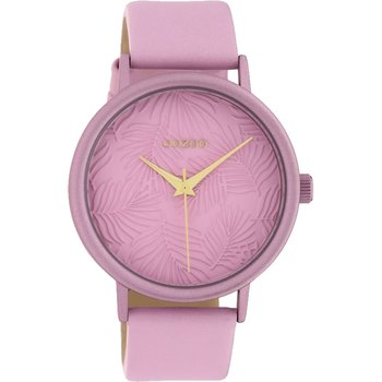 OOZOO Timepieces Limited Pink Leather Strap