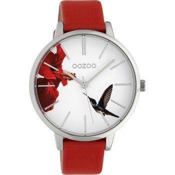 OOZOO Timepieces Limited Red Leather Strap