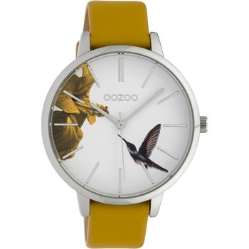 OOZOO Timepieces Limited Beige Leather Strap