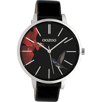 OOZOO Timepieces Limited Black Leather Strap