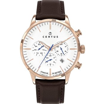 CERTUS Mens Brown Leather